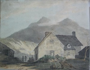 English School, early 19th c. - Four watercolor pa