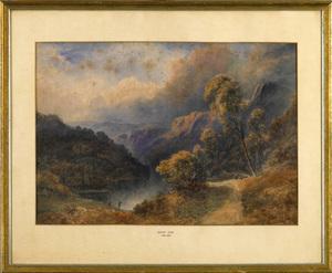 David Cox I(British, 1783-1859) - Watercolor lands