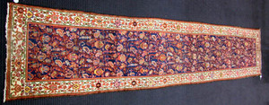 Malayer runner, ca. 1920, with overall floral desi