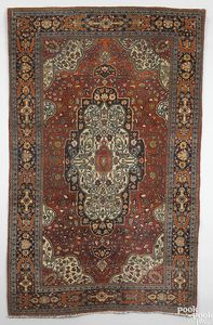 Sarouk Malayer rug, ca. 1920, with an ivory medall