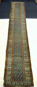 Hamadan runner, ca. 1920, with boteh design on a c