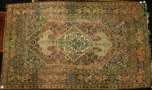 Semi-antique Bidjar throw rug, ca. 1940, with a la