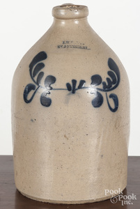 Vermont stoneware jug, 19th c.