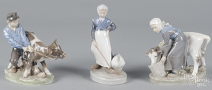 Three Royal Copenhagen figurines