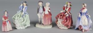 Five Royal Doulton figurines