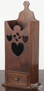 Contemporary mahogany hanging pipe box
