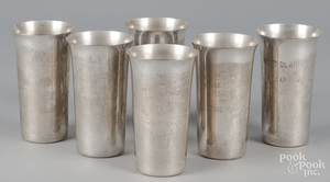 Six sterling silver Mont Clair Horse Show julep cu