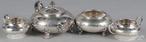 Four-piece sterling silver tea service