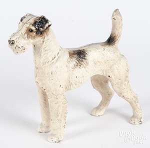 Cast iron terrier doorstop, 10 1/4
