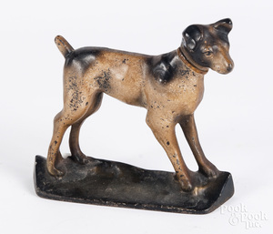 Cast iron terrier doorstop, 6 3/4
