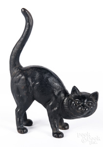Hubley cast iron cat doorstop, 11