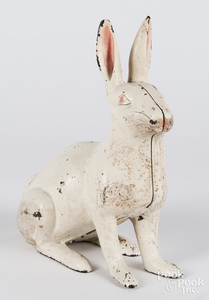 Cast iron rabbit doorstop, 11 1/2