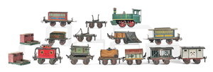 Marklin tin plate train set, together with a Karlo