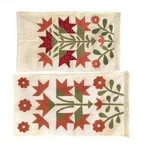 Two Pennsylvania floral appliqué pillow shams, 19t