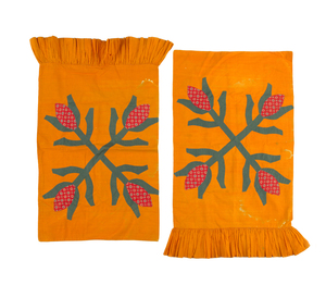 Pair of Pennsylvania floral appliqué pillow shams,