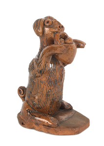 York County, Pennsylvania redware figure of a seat