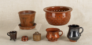 Collection of Pennsylvania redware, 19th c., to in