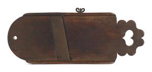 Pennsylvania walnut slaw board, early 19th c., wit