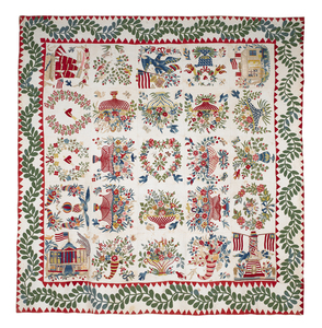 Outstanding Baltimore album quilt, mid 19th c., wi