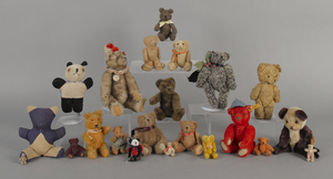 Collection of sixteen small teddy bears, to includ