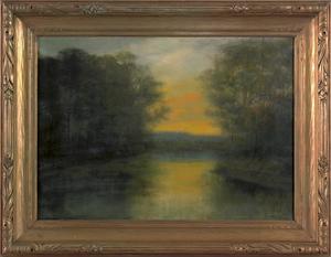 Ben Austrian (American 1870-1921), oil on canvas l