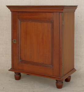 Pennsylvania mahogany spice chest, 19th c., with a