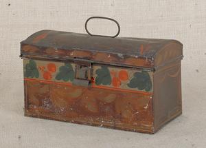 Pennsylvania toleware dome lid box, 19th c., 4 1/2