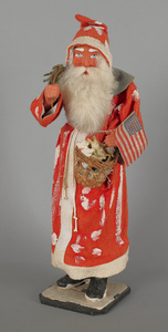 Composition Santa Claus candy container, early 20t