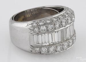 Platinum and diamond band