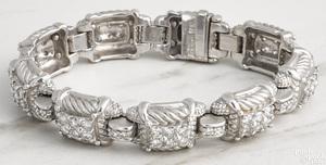 18K white gold and diamond Judith Ripka bracelet