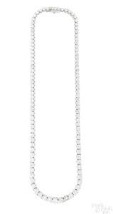 Platinum and diamond riviera necklace