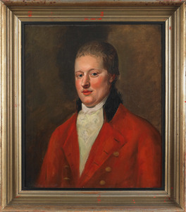 Oil on canvas portrait of a gentleman, late 19th c