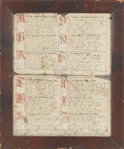 Pennsylvania ink and watercolor vorschrift, ca. 18