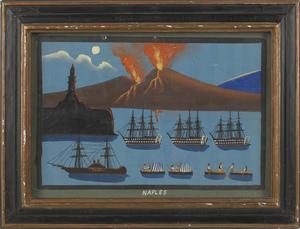 Four Italian gouache maritime scenes, ca. 1900, 13
