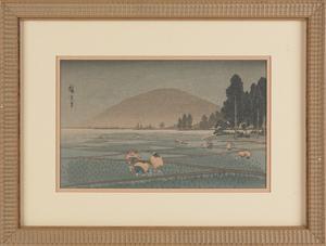 Shoda Koho (20th c.), two Japanese woodblock print