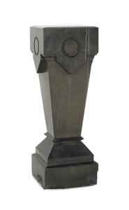 Art deco black marble pedestal, early 20th c., 40