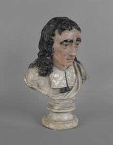Large chalk bust of Milton, 19th c., 18