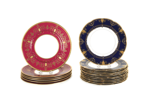 Set of six Mintons porcelain plates, 11 1/4