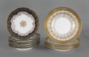 Set of six Wedgwood porcelain soup bowls, 9 1/2