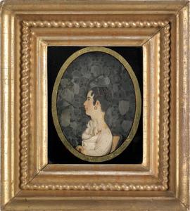 Philadelphia high relief wax profile portrait of a
