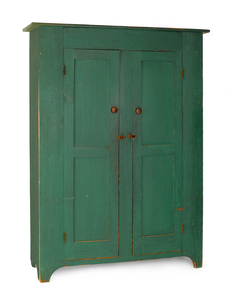 New Jersey painted pine wall cupboard, ca. 1830, w