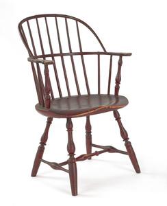 Philadelphia painted Windsor armchair, ca. 1775, w