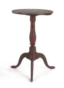 Delaware Valley Queen Anne candlestand, late 18th.