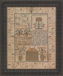 Trenton, New Jersey silk on linen needlework sampl