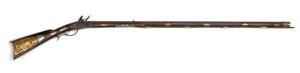 Ornate North Carolina flintlock long rifle, attrib
