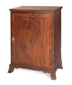Chester County Federal mahogany veneer valuables c