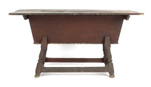 Pennsylvania poplar dough box on stand, ca. 1760,i