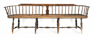 Delaware Valley Windsor bench, ca. 1770, with a lo