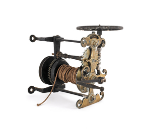 George III brass and iron spit jack, late 18th c.,