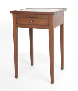Federal cherry side table, ca. 1800, with a tray t